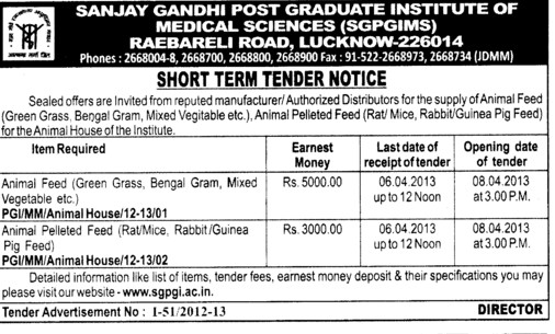 Animal feed and Animal pelleted feed (Sanjay Gandhi Post Graduate College)