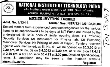Security Services (National Institute of Technology NIT)