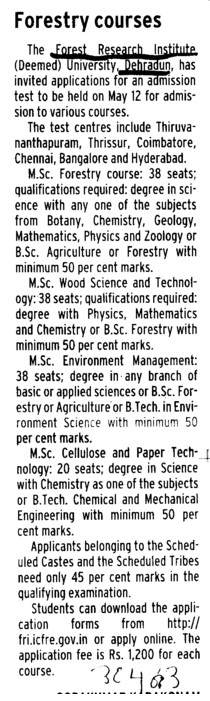 Forestry courses (KG Medical University Chowk)