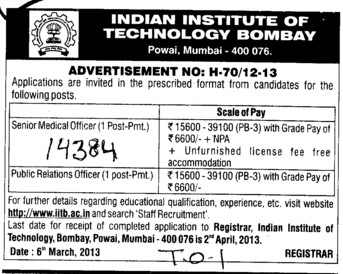 SMO and PRO (Indian Institute of Technology (IITB))