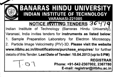 Particle image velocimetry etc (Banaras Hindu University)