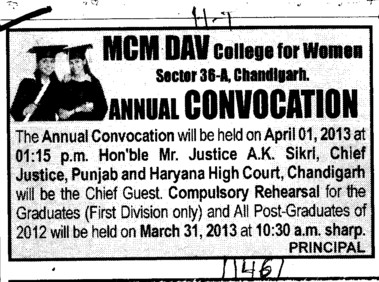 Annual Convocation Program (MCM DAV College for Women)