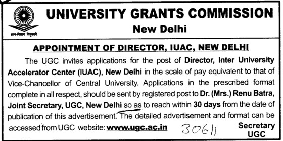 Director (University Grants Commission (UGC))