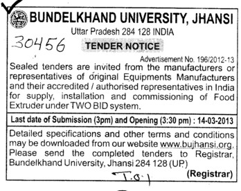 Food Extruder (Bundelkhand University)
