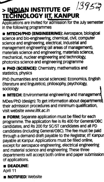 PhD and MTech (Indian Institute of Technology (IITK))