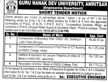 Construction of Boundary Wall (Guru Nanak Dev University (GNDU))