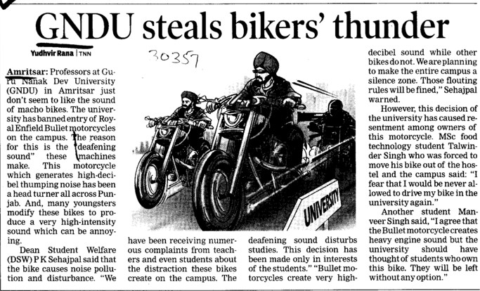 GNDU steals bikers thunder (Guru Nanak Dev University (GNDU))