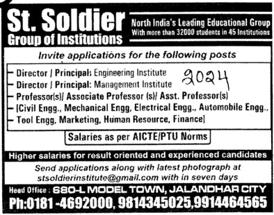 Director and Principal (St Soldier Group)