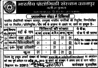 Health Officer etc (Indian Institute of Technology (IITK))