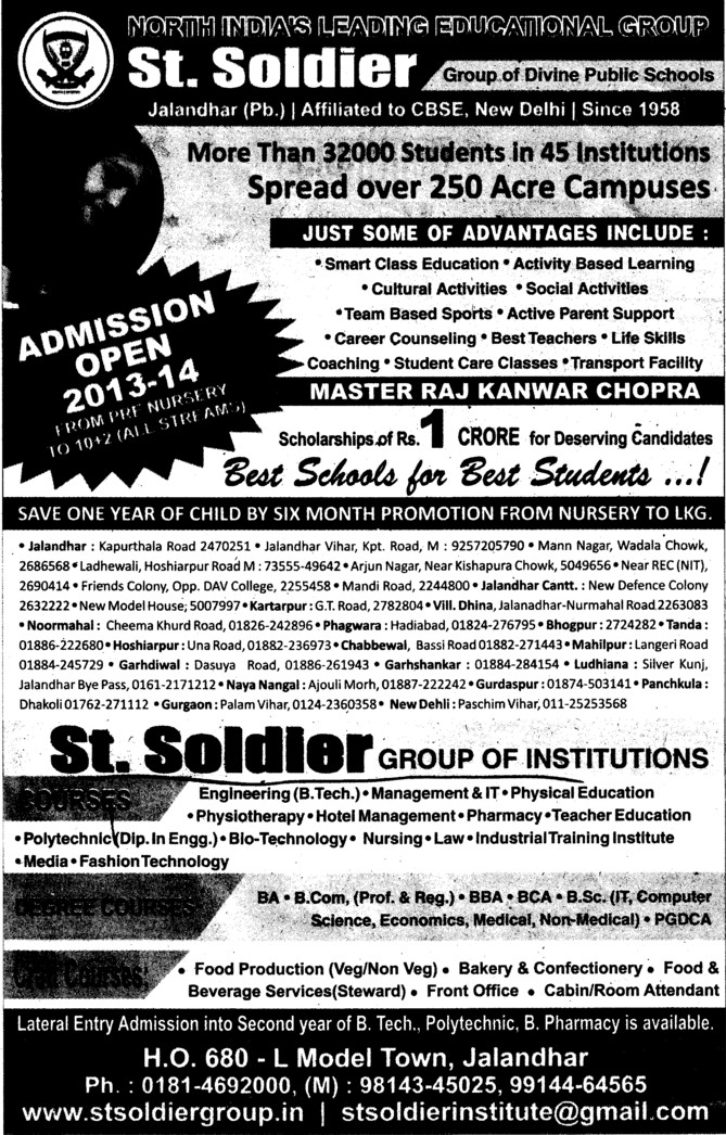 BBA, BSc and BCom (St Soldier Group)