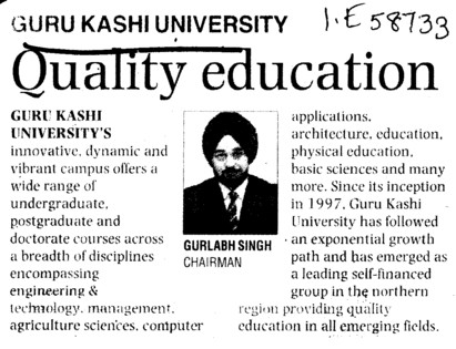 Quality Education (Guru Kashi University)