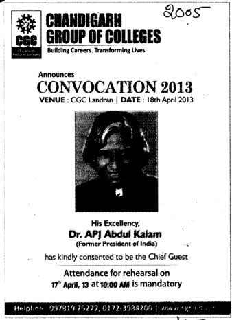 Annual Convocation Program (Chandigarh Group of Colleges)