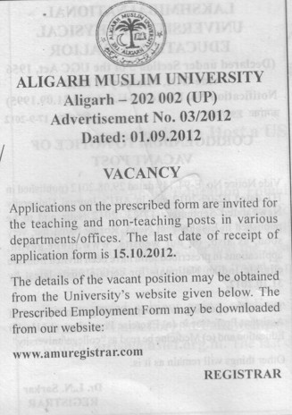 Teaching and non teaching faculty (Aligarh Muslim University (AMU))