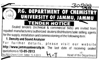 Density and Sound Analyzer (Jammu University)