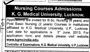 BSc Nursing (KG Medical University Chowk)