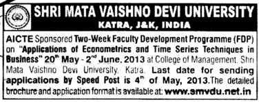 Faculty Development Program (Kurukshetra University)