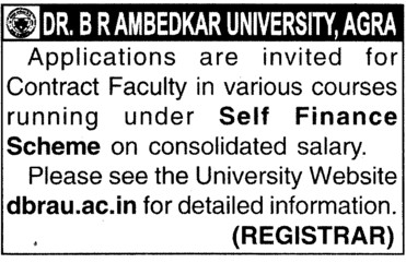 Courses under self financed scheme (Dr Bhim Rao Ambedkar University)