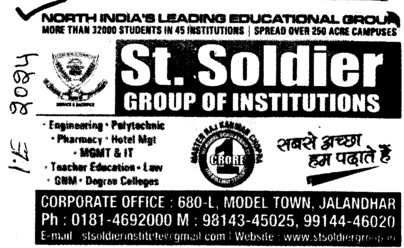 Engg and Mgmt courses etc (St Soldier Group)