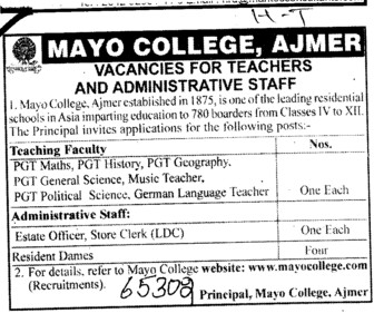 Teachers and Administrative Staff (Mayo College)