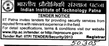 Security Services (Indian Institute of Technology IIT)