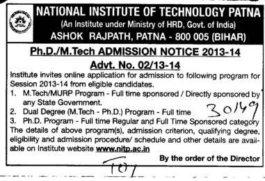 PhD and MTech (National Institute of Technology NIT)