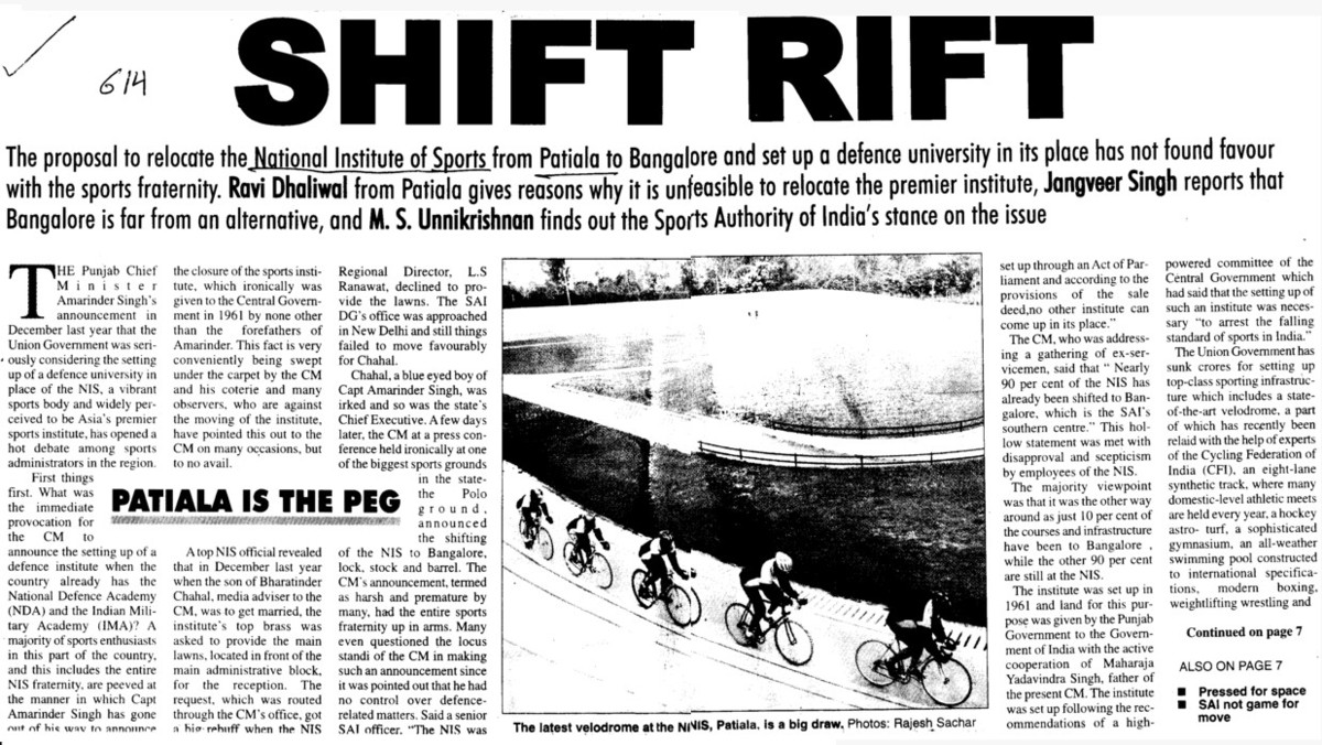 Shift Rift (Netaji Subhas National Institute of Sports (NIS))