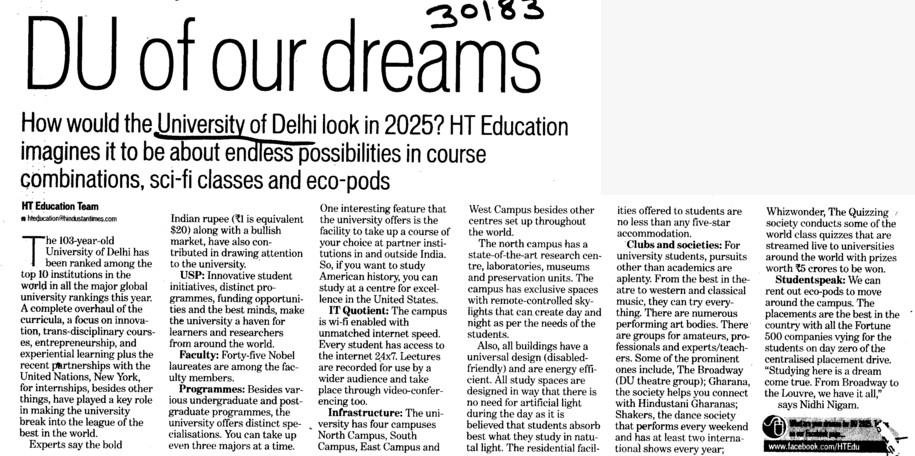 DU for our dreams (Delhi University)