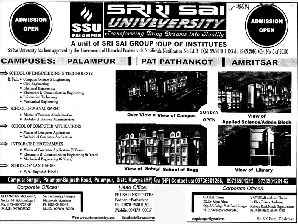 BTech in Civil Engineering (Sri Sai University)