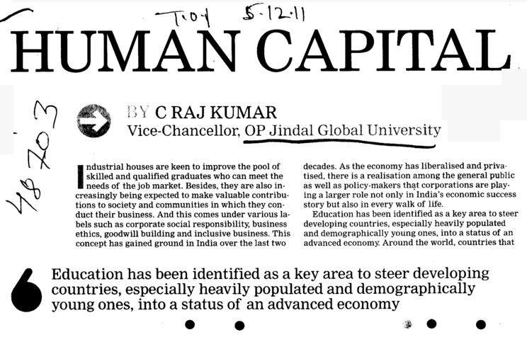 Human Capital (OP Jindal Global University)