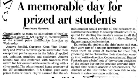 Memorable day for prized art Students (Government College of Art)