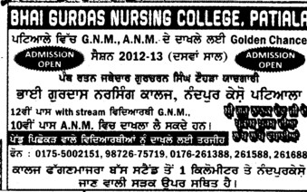 GNM and ANM (Bhai Gurdas Institute of Nursing)