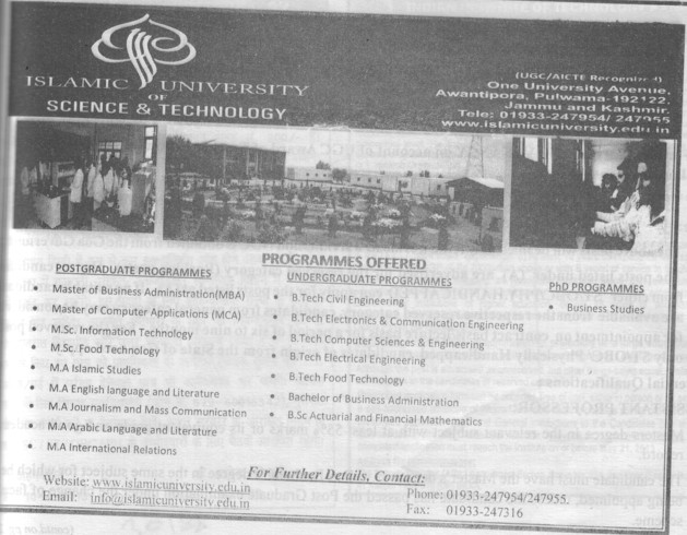 MBA and MA in Islamic Studies (Islamic University of Science and Technology)