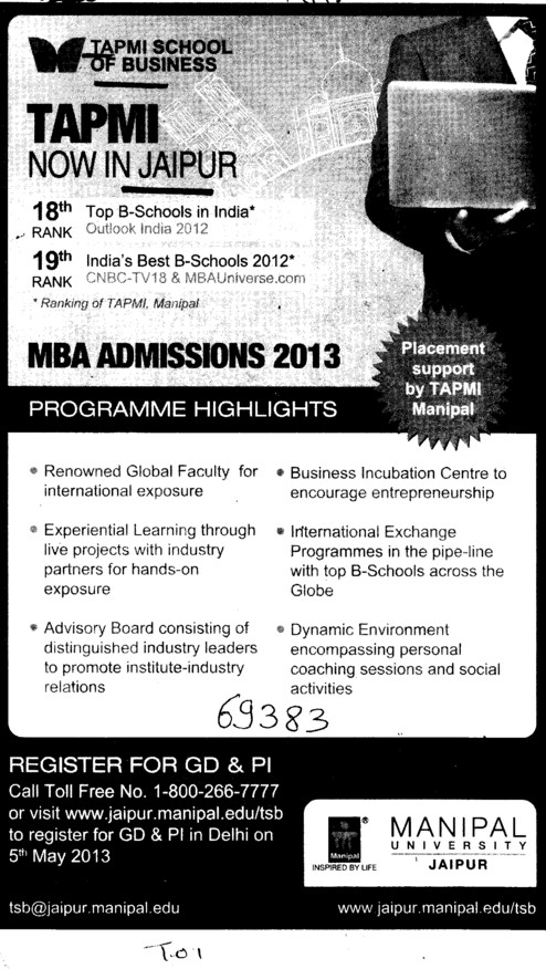 MBA Programme (TAPMI School of Business)