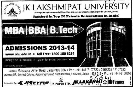 BBA and MBA (JK Lakshmipat University)