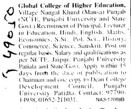 Principal and Lecturers (Global College of Higher Education)