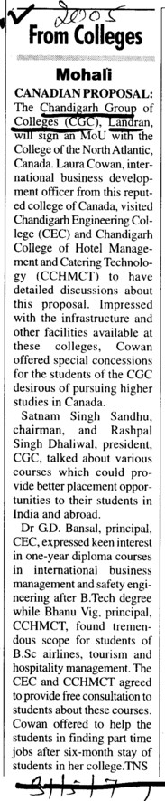 Canadian Proposal (Chandigarh Group of Colleges)