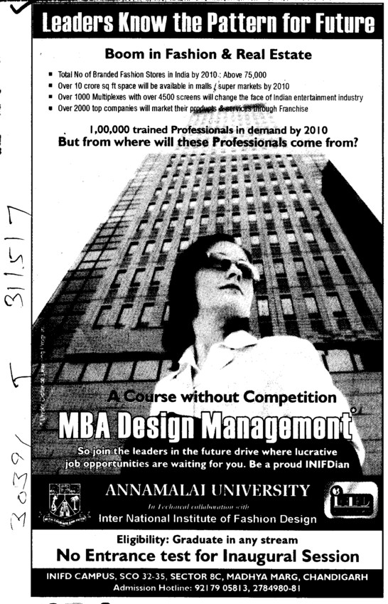 MBA In Design Management (Annamalai University)