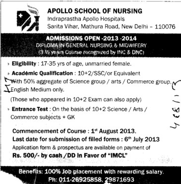 Diploma in General Nursing (Apollo School of Nursing)