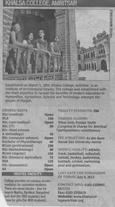BA, BCA and BSc IT (Khalsa College)