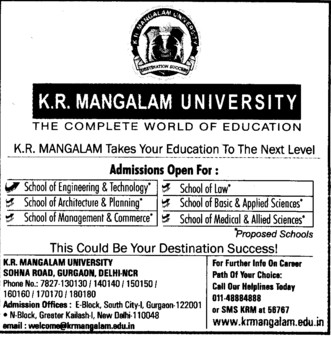 Engg, Management and Architecture (KR Mangalam University)