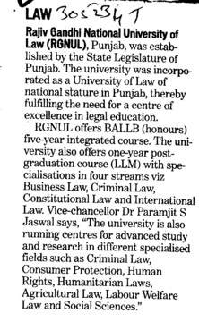 BALLB and LLM Course (Rajiv Gandhi National University of Law (RGNUL))