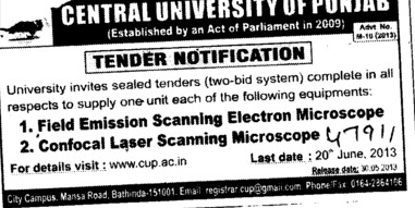Confocal Laser Scanning Microscope (Central University of Punjab)