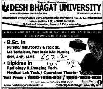 BSc in Nursing (Desh Bhagat University)