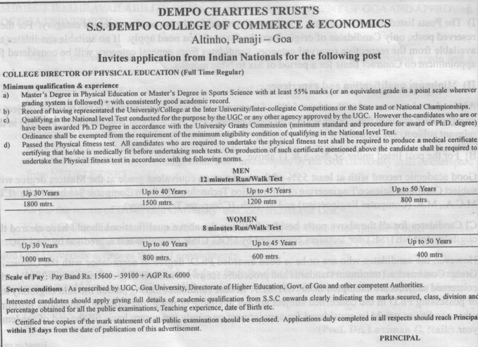 Director (SS Dempo College of Commerce and Economics)