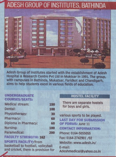 UG Course (Adesh Group of Institutions)