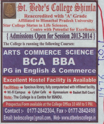 BBA and BCA (St Bedes College)
