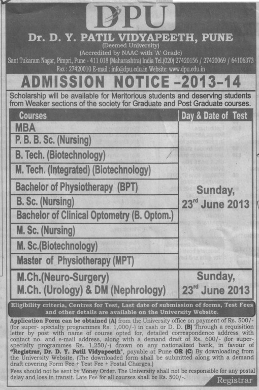 MSc Nursing and MCh in Neurology (Dr DY Patil University)