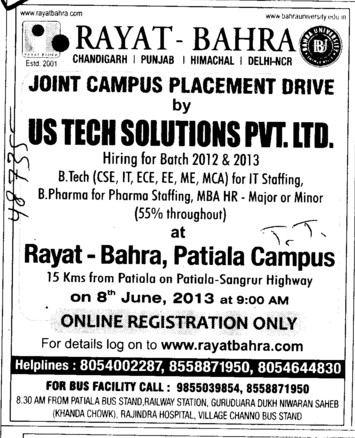 BTech in ECE and ME (Rayat Bahra Patiala Campus (Shri Balaji Group of Institutions))