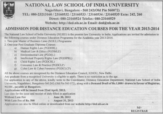 MBL Programme (National Law School of India University (NLSIU))