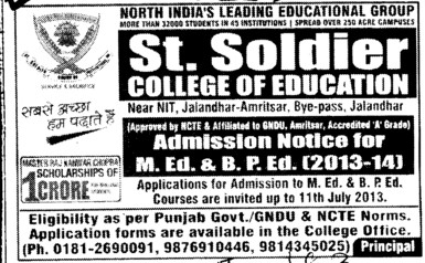 MEd and BPEd course (St Soldier College of Education)